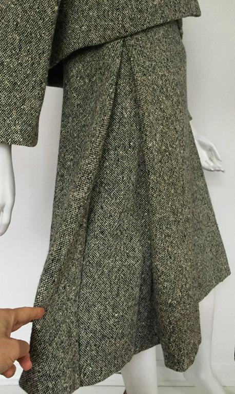 Gustave Tassell 1965 wool dress with jacket size 12 / 14.  5