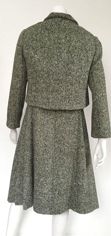 Gustave Tassell 1965 wool dress with jacket size 12 / 14.  6