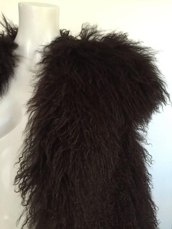 Sonia Rykiel Mongolian Fur Vest Size 6 / 8.  5