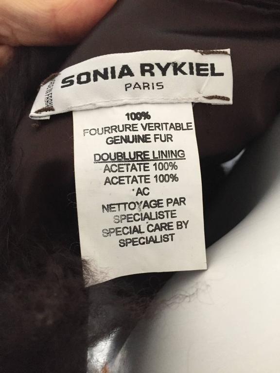 Sonia Rykiel Mongolian Fur Vest Size 6 / 8.  7