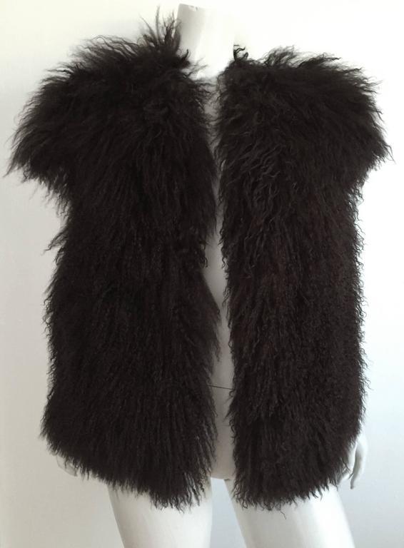 Sonia Rykiel Mongolian Fur Vest Size 6 / 8.  8