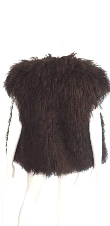 Sonia Rykiel Mongolian Fur Vest Size 6 / 8.  3
