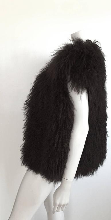 Sonia Rykiel Mongolian Fur Vest Size 6 / 8.  4