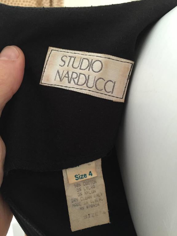 Leo Narducci Cotton Black Mini Dress, Size 4  9