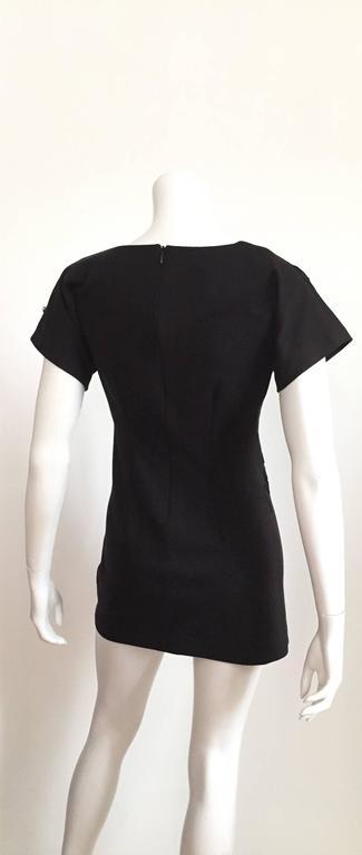 Leo Narducci Cotton Black Mini Dress, Size 4  5