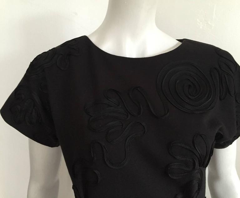 Leo Narducci 80s little black dress size 4.  7