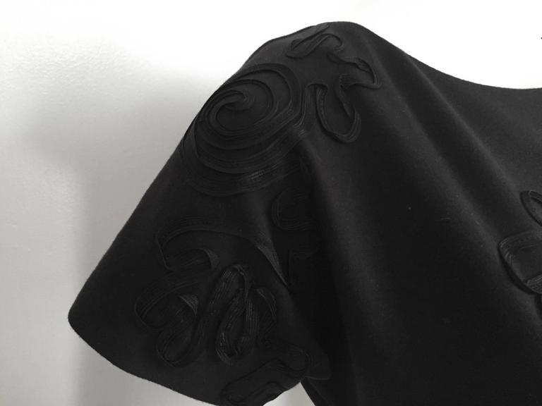 Leo Narducci Cotton Black Mini Dress, Size 4  8