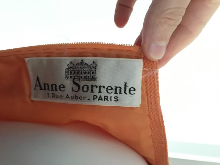 Anne Sorrente 60s Orange Wool Sleeveless Dress Size 8. 8