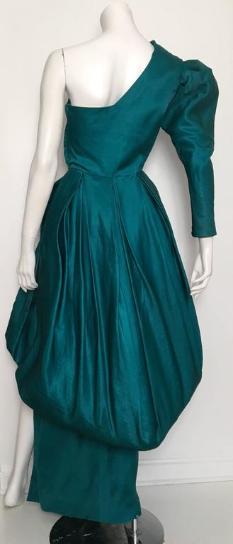 Tan Giudicelli 80s Silk Evening Gown Size 4. 5