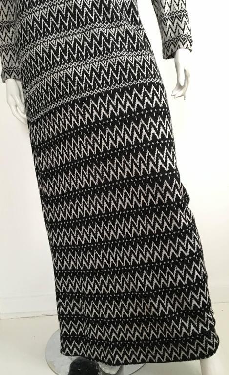 Susan Small 70s Chevron Long Knit Maxi Dress Size 6/8. 3