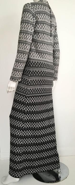 Susan Small 70s Chevron Long Knit Maxi Dress Size 6/8. 5