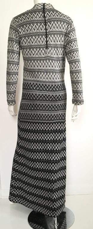 Susan Small 70s Chevron Long Knit Maxi Dress Size 6/8. 6
