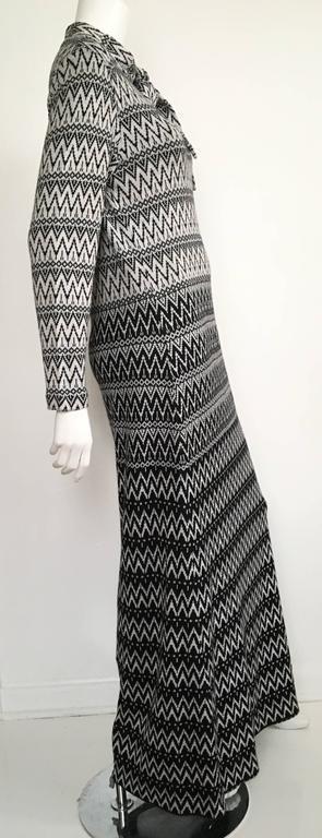 Susan Small 70s Chevron Long Knit Maxi Dress Size 6/8. 7