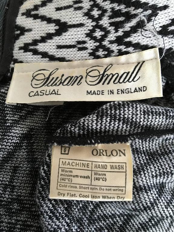 Susan Small 70s Chevron Long Knit Maxi Dress Size 6/8. 8