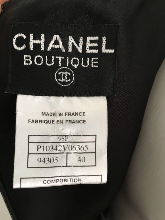 Chanel Maxi Black Wool Sleeveless Dress Size 6  8