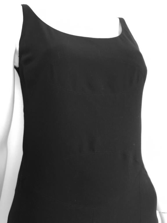 Chanel Maxi Black Wool Sleeveless Dress Size 6  2