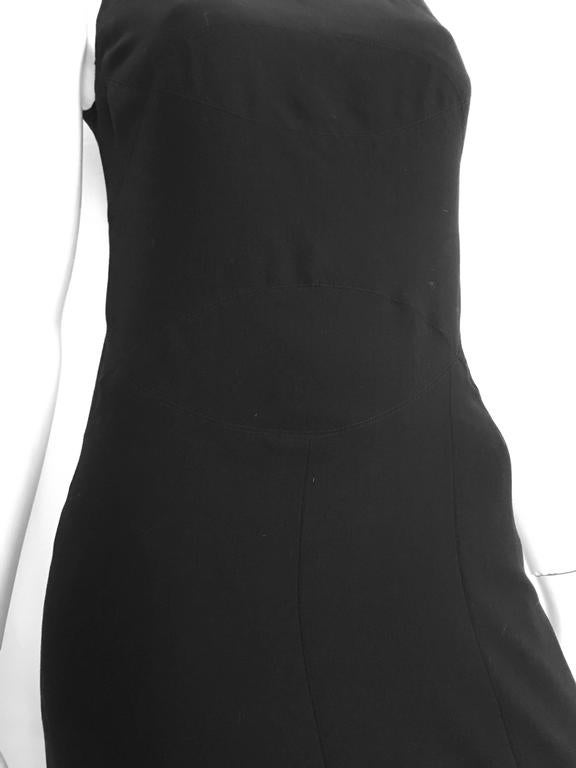 Chanel Maxi Black Wool Sleeveless Dress Size 6  3