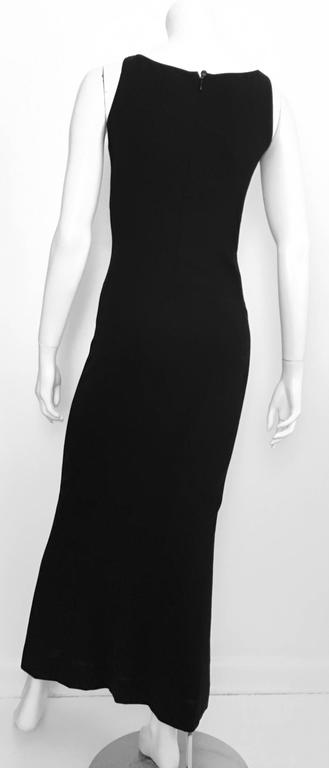 Chanel Maxi Black Wool Sleeveless Dress Size 6  4