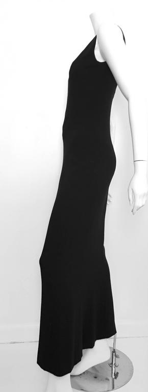 Chanel Maxi Black Wool Sleeveless Dress Size 6  6