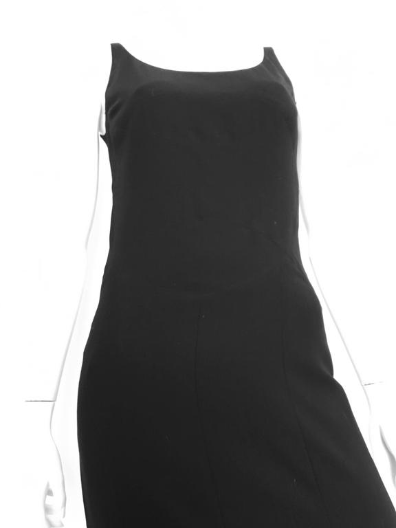 Chanel Maxi Black Wool Sleeveless Dress Size 6  7