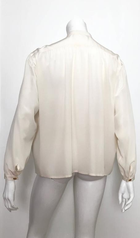 Yves Saint Laurent 90s Silk Blouse Size 6. 4