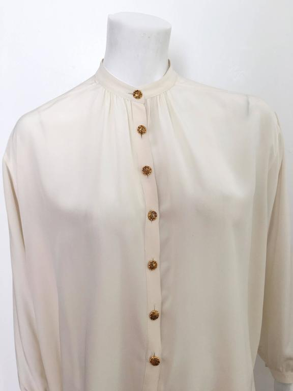 Yves Saint Laurent 90s Silk Blouse Size 6. 6