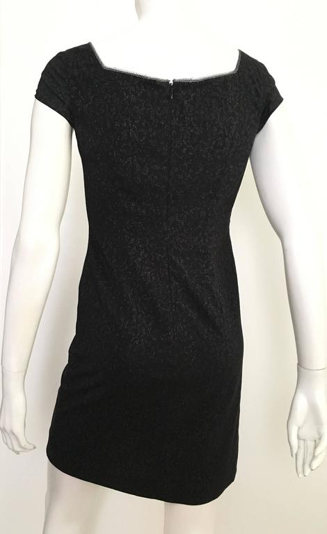 Todd Oldham 80s Black Evening Shift Dress Size 4. 7