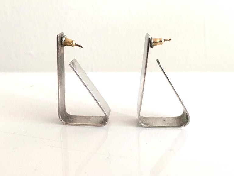 Alfred Karram Modern Sterling Earrings. 3