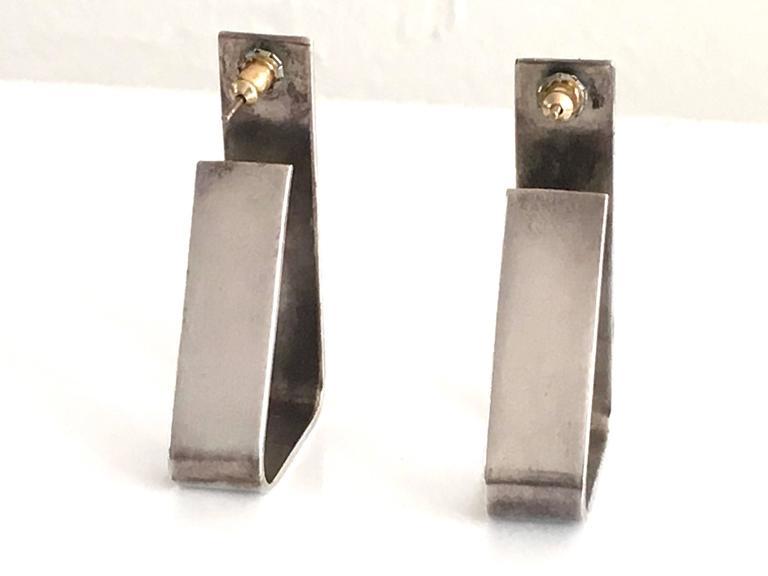 Alfred Karram Modern Sterling Earrings. 4