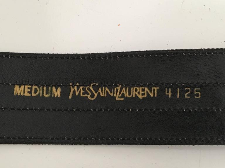 Yves Saint Laurent Belt Size Small. For Sale 1