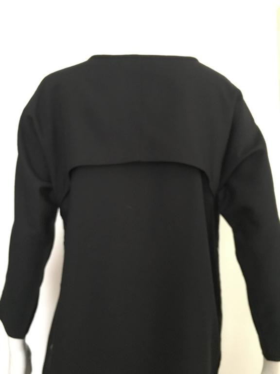 Geoffrey Beene Black Linen Dress With Pockets Size 12. 5