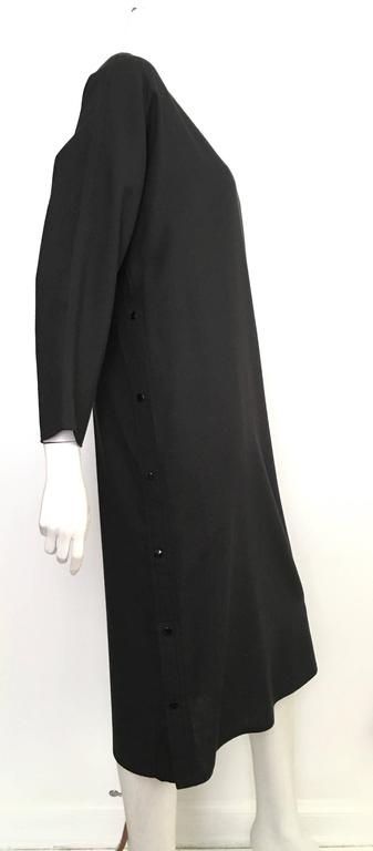 Geoffrey Beene Black Linen Dress With Pockets Size 12. 2