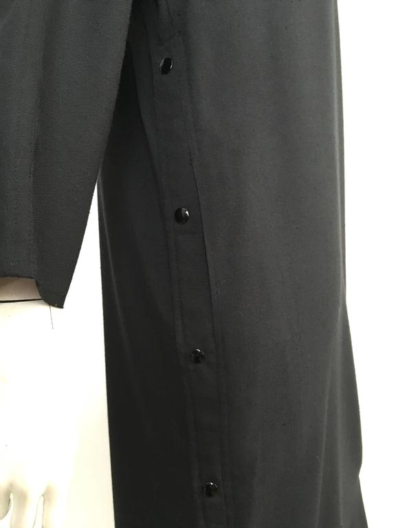 Geoffrey Beene Black Linen Dress With Pockets Size 12. 3