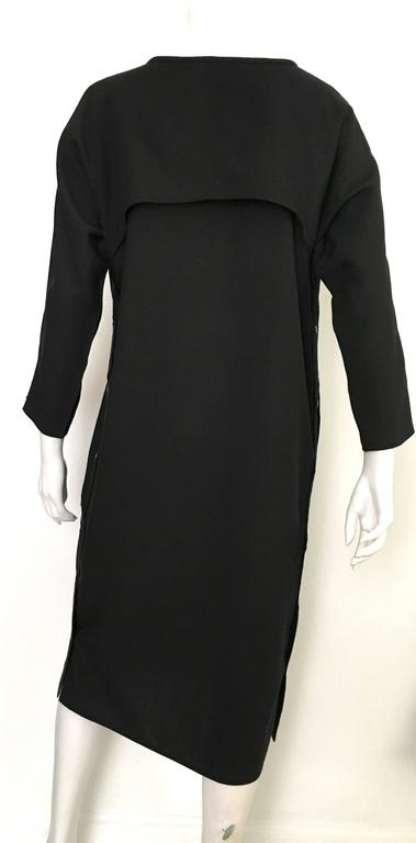 Geoffrey Beene Black Linen Dress With Pockets Size 12. 4