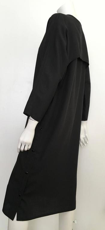 Geoffrey Beene Black Linen Dress With Pockets Size 12. 6