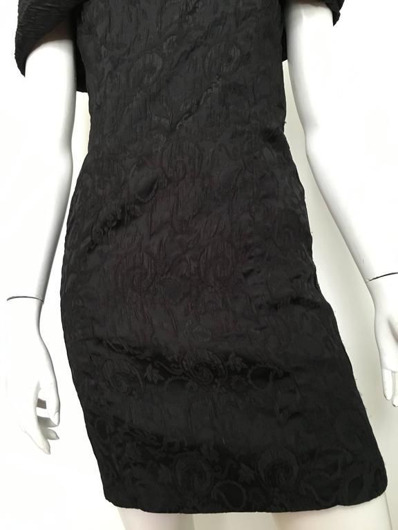 Dior 1980s Black Silk Evening Dress Size 6. In Excellent Condition For Sale In Atlanta, GA