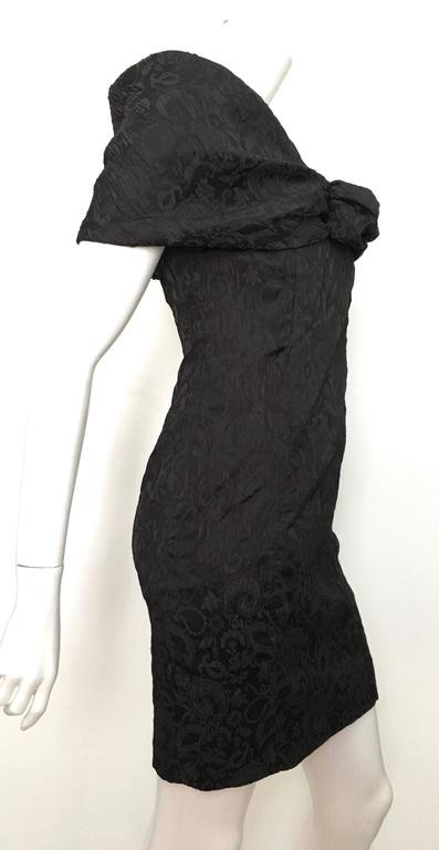 Women's or Men's Dior 1980s Black Silk Evening Dress Size 6. For Sale