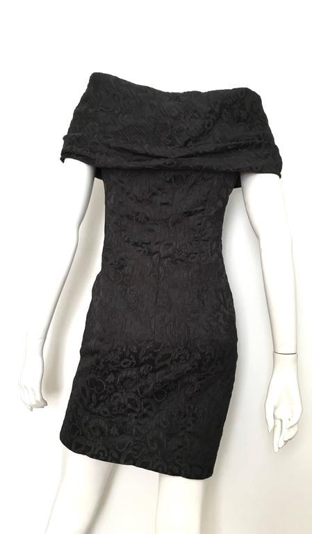 Dior 1980s Black Silk Evening Dress Size 6. For Sale 1