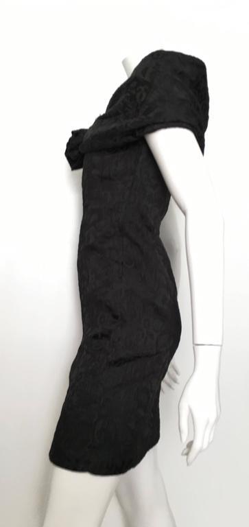 Dior 1980s Black Silk Evening Dress Size 6. For Sale 2
