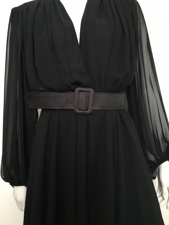 William Pearson 1980s Little Black Evening Dress Size 6. 3