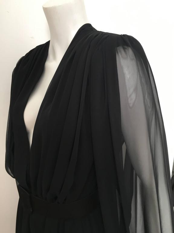 William Pearson 1980s Little Black Evening Dress Size 6. 9