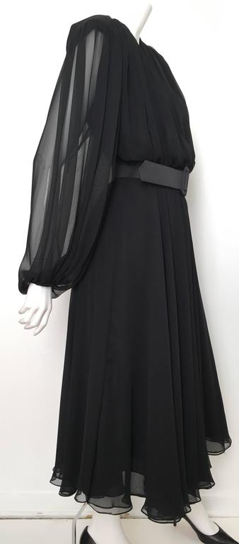 William Pearson 1980s Little Black Evening Dress Size 6. 4
