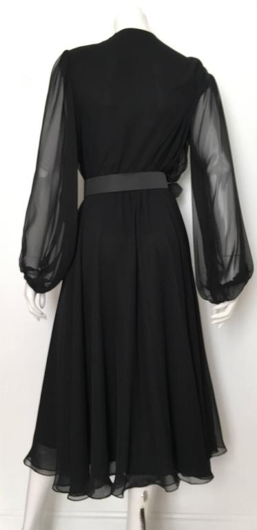 William Pearson 1980s Little Black Evening Dress Size 6. 5
