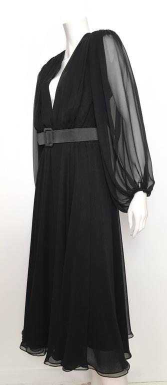 William Pearson 1980s Little Black Evening Dress Size 6. 8