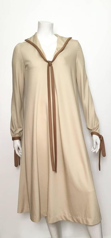 Stephen Burrows 1970s Jersey A Line Dress Size 6/8. 9