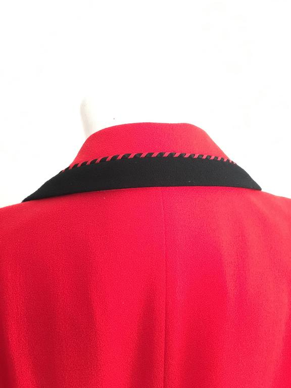 Lilli Ann 1980s Red Wool Coat Size Large. 7