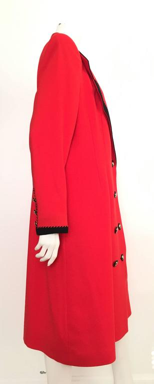 Lilli Ann 1980s Red Wool Coat Size Large. 4