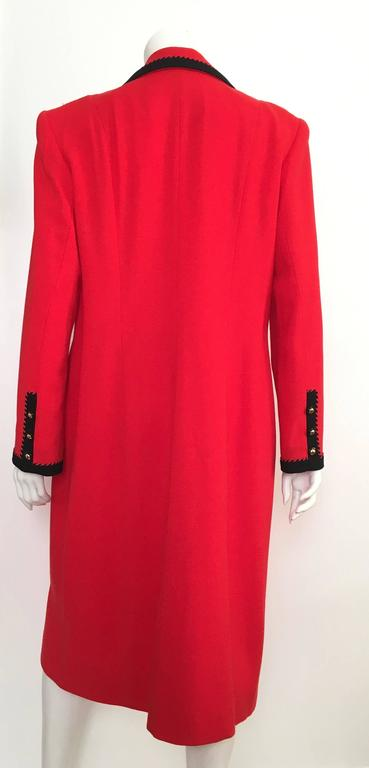 Lilli Ann 1980s Red Wool Coat Size Large. 5
