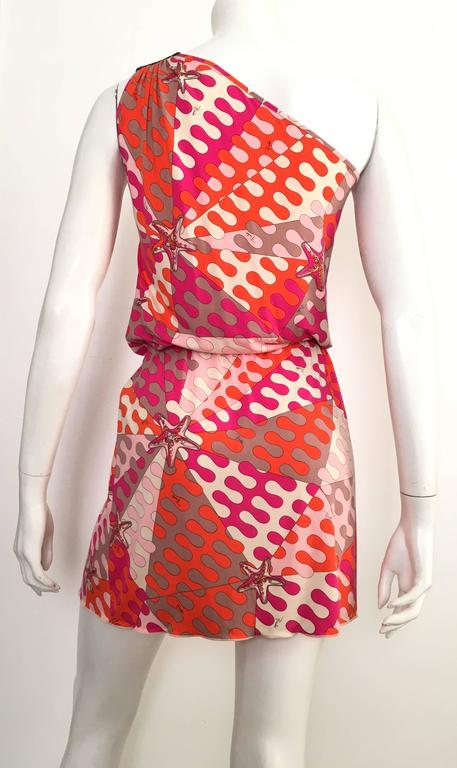 Emilio Pucci Starfish Off The Shoulder Dress Size 6.  For Sale 2