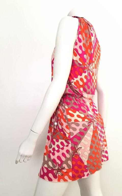 Emilio Pucci Starfish Off The Shoulder Dress Size 6.  For Sale 3